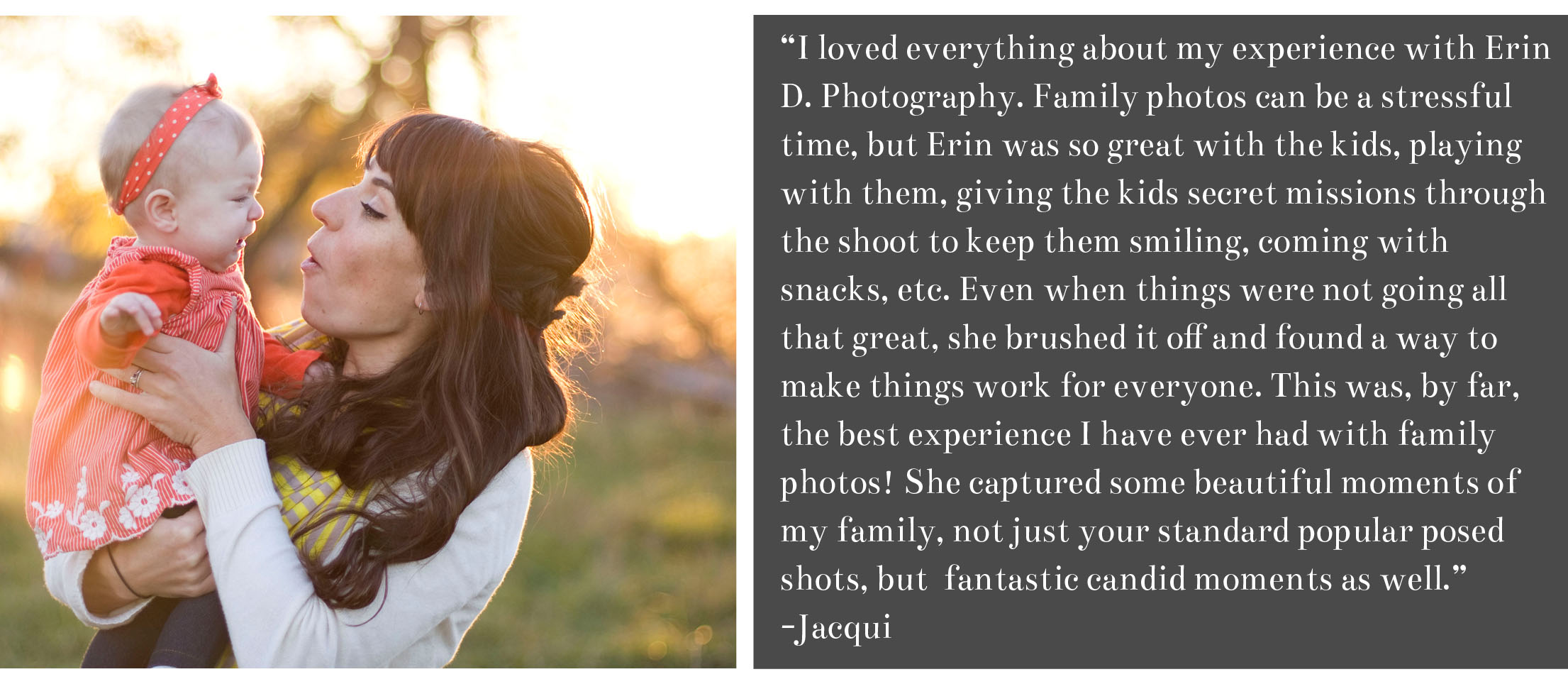 Erin D> Photography | Jacqui Review