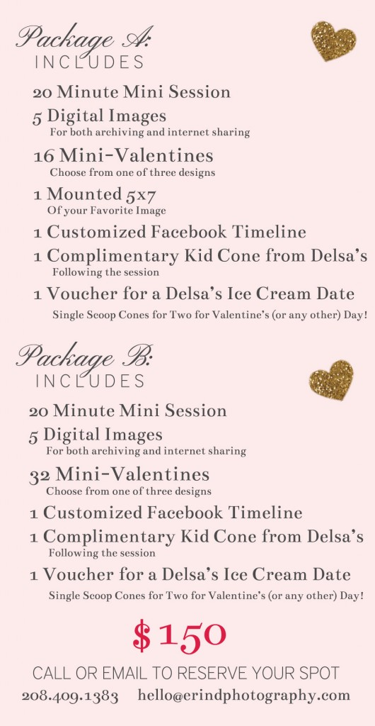 Valentine's Day Mini Packages | Erin D. Photography