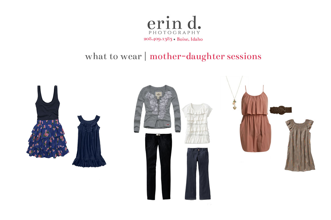 what to wear mother-daughter | Erin D. Photography