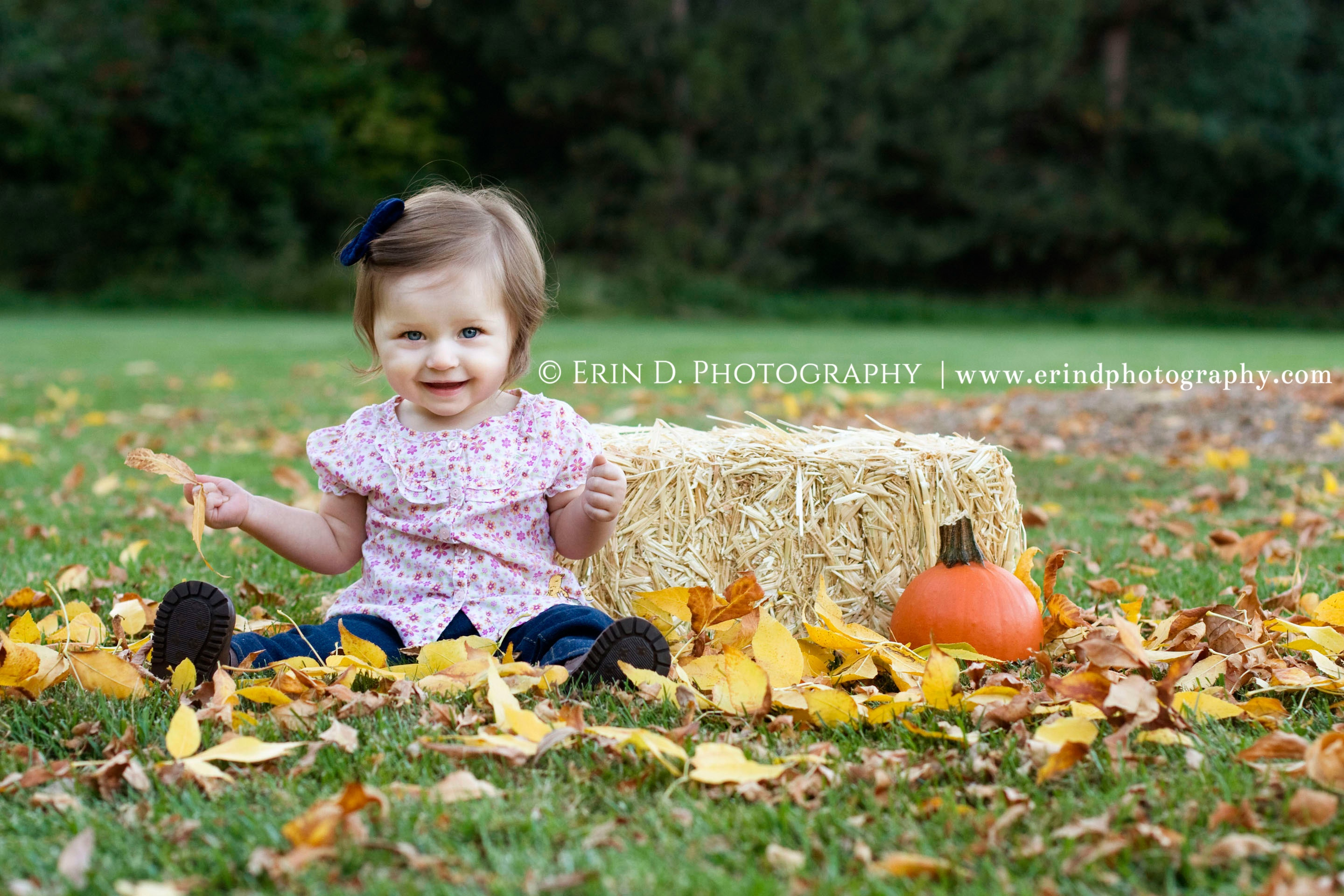 Fall Mommy Daughter Portraits | Erin D. Photography